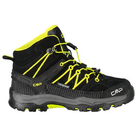 CMP Campagnolo Rigel Mid WP Trekking Shoes Kids Nero-Limeade